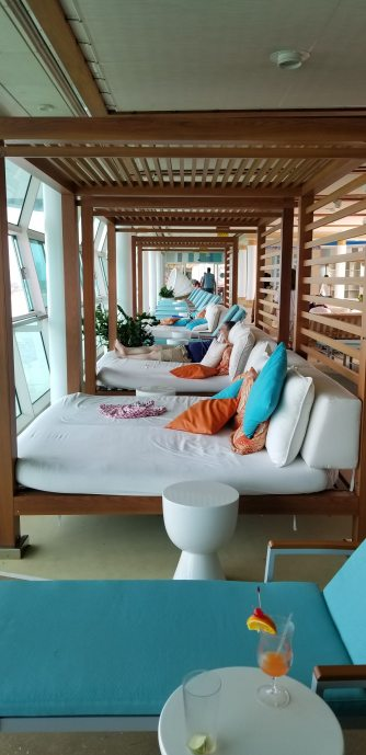 Bali beds in the Solarium, the adults only pool
