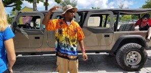 Our funky jeep and tour guide.